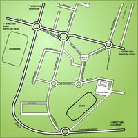 Carte de la zone commerciale Pontarlier